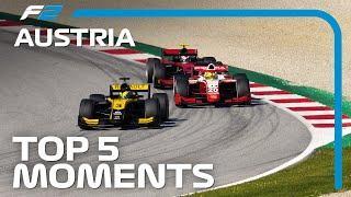 Top 5 Formula 2 Moments | 2020 Austrian Grand Prix