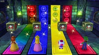 Mario Party 10 Series Map - Luigi vs Daisy vs Peach vs Toad (Whimsical Waters)