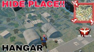 Top 10 Hide Place in Hangar | Tips and Tricks | Free Fire Gameplay | The Legend