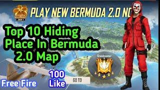 TOP 10 HIDDEN PLACE IN BERMUDA 2.O FOR  GRANDMASTER RANK PUSH IN FREE FIRE || BEST TIPS AND TRICKS