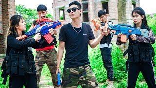 XGirl Nerf War: 23 Best Case of Cherry and Candy Battle ! SEAL X Girl Nerf Guns Criminal Group