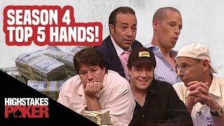 High Stakes Poker Best Poker Hands | Season 4