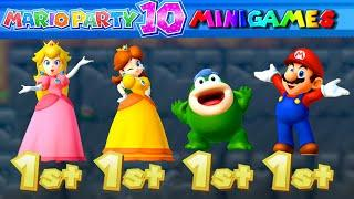 Mario Party 10 Minigames #25 Peach vs Daisy vs Spike vs Mario (Master Difficult)