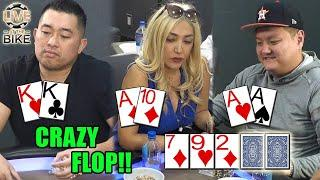 SICK FLOP with 3 HUGE Hands! ♠ Live at the Bike!