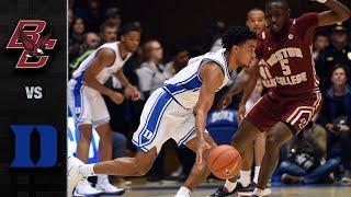 Boston College vs. Duke Men's Basketball Highlights (2019-20)