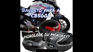 Modelos de Baú Bauleto Top Case Givi para CB500X - Monolock ou Monokey? Suporte para Baú bagageiro