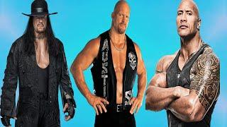 TOP 10 Greatest WWE Wrestlers of All Time★The Undertaker,Steve Austin,Dwayne Johnson the rock★