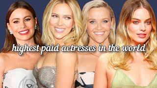 Top 10 highest paid Actresses in the World