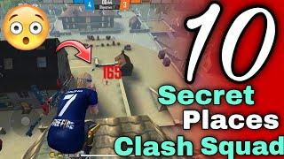 Top 10 Clash Squad Secret Place || Tips and Tricks Garena Free Fire || ONE DAY GAMING || NEW PLACES