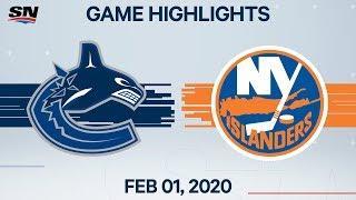 NHL Highlights   Canucks vs Islanders – Feb. 1, 2020