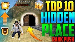 Top 10 Best Hidden & Secret Place For Rank Pushing - Free Fire