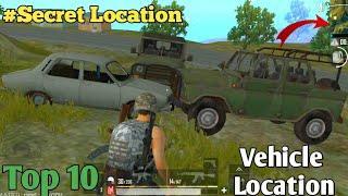 Top 10 Secret vehicle Location Place in Pubg Lite | vehicle Location | Erengel Map