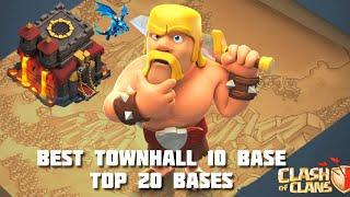 BEST TOWNHALL 10 WAR BASES  TOP 20 WAR BASE  CLASH OF CLANS TH10 BEST BASES ANTI 3STAR