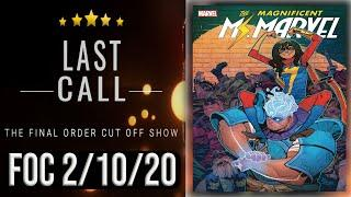 Top 10 Comic Books for Final Order Cut Off 2/10/20