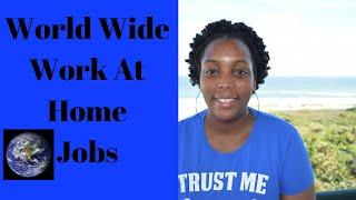 Top 12 Paying Worldwide Work from Home Jobs That Are Global & Online!