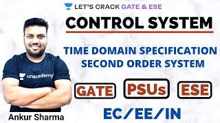L10: Time Domain Specification I Second Order System for GATE/ESE I Control System by Ankur Sir