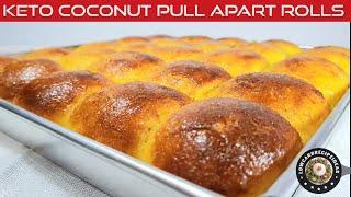 HOW TO MAKE KETO COCONUT PULL APART ROLLS - GRAIN FREE, WHEAT FREE, GLUTEN FREE & SUGAR FREE !