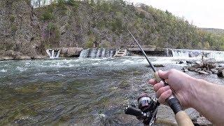 Found AMAZING Fishing Spot!!! River Fishing for Smallmouth Bass