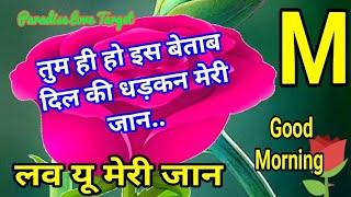 Tum Hi Ho Is Betaab Dil Ki Dhadkan Meri Jaan, Good Morning Video, M Name Status, Morning Shayari