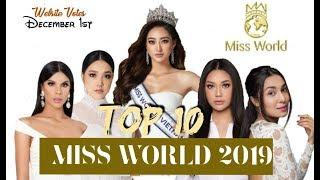 TOP 10 MISS WORLD 2019   ONLINE VOTERS DECEMBER 1st EDITION