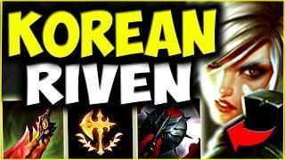 THE KOREAN RIVEN FAVORITE MATCHUP! *HARD* (Riven TOP Guide) - League of Legends