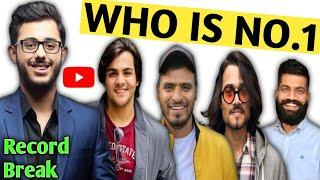 Top 10 Indian Youtubers | Who is number one youtuber of India | Carryminati Roast Video