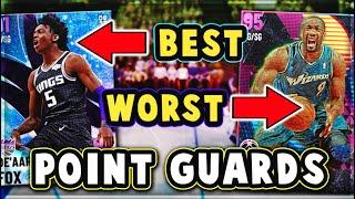 TOP 5 BEST/WORST VALUE POINT GUARDS in NBA 2K21 MyTEAM!