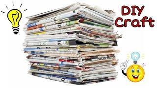 TOP 5 KIDS NEWSPAPER CRAFTS IDEAS. DIY PAPER CRAFTS. NEWSPAPER CRAFT IDEA