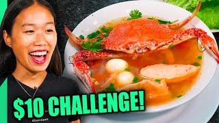 $10 Street Food Challenge in Seafood City, Vietnam!! Cheapest Crab Noodles!!