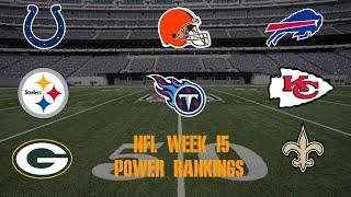 Top 10 NFL Power Rankings Week 15