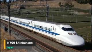 The top 10 fastest trains in the word.