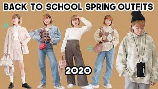 Back to School Spring Outfits 2020 (ft. MARHEN.J!!!) | Q2HAN