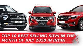 Top 10 Best Selling SUV's In The Month Of July 2020 In India