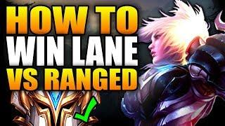How to WIN Lane VS Ranged (BEST WAY!) - SEASON 10 RIVEN TOP GAMEPLAY! - League of Legends