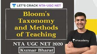 Bloom's Taxonomy and Methods of Teaching | Teaching Aptitude | NTA UGC NET Paper -1 | December 2020