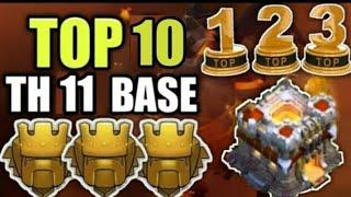Top 10 Best Th11 CWL Bases With Links | Anti 2 Star Th11 Bases | Clash Of Clans