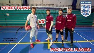 Street Panna vs Pro England Futsal Players!! Insane Goals + Skills!