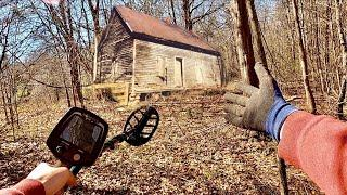 Metal Detecting Sent CHILLS Down My Spine - Found Abandoned House In The Woods *Paranormal Activity*