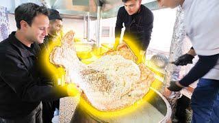 Street Food on the SILK ROAD - INSANE 1000 Person PLOV COOKING in Uzbekistan + TANDOORI MEAT CAVE!!!