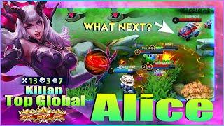 Alice Fast Farming Perfect Map Control! Top Global Alice by Kilian ~ Mobile Legends