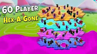 *NEW* 60 PLAYER HEXAGONE?!? - FALL GUYS WTF & Funny Moments #104