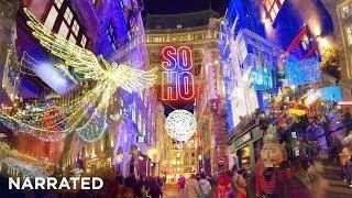 *MEGA* Christmas Walking London ✨ PART 1 (Narrated) ✨ Oxford Street, Regent Street, Carnaby Street