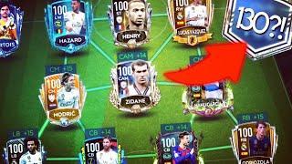 130 OVR?!! - TOP 10 TEAMS IN FIFA MOBILE 20 - 100 OVR ZIDANE
