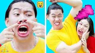 FUNNY COUPLE PRANKS! Simple DIY Pranks in Relationship & Friends By RAINBOW STUDIO
