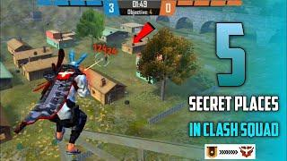 TOP 5 CLASH SQUAD SECRET PLACE FREE FIRE || Part-1 || Tips and Tricks Garena free fire