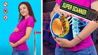 15 Movie Theater Pranks! / Funny Ways to Sneak Snacks into the Movies