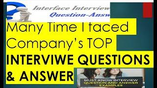 TOP 10 Company'S  INTERVIWE  QUESTIONS & ANSWER HINDI & ENGLISH