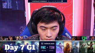 FNC vs TSM | Day 7 Group C S10 LoL Worlds 2020 | Fnatic vs TSM - Groups full game