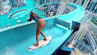 Top 10 Extreme Water Slides Pretty Girl Amusement Fun Crazy Speed Waterslides Aqua Park Egypt Hotel