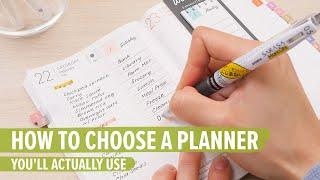 How to Choose a Planner You'll Actually Use